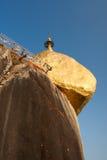 Goldener Felsen Stockbild