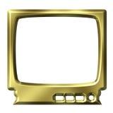 Goldener Fernsehapparat Lizenzfreie Stockfotos