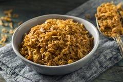 Goldener Fried Onion Bits lizenzfreies stockfoto