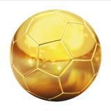 Goldener Fußball Stockbild