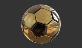 goldener Fußball der Illustration 3D Stockfoto