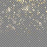 Goldener Funkeln Weihnachtseffekt Vektor ENV 10 Stockfotos