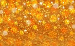 Goldener Funkelnbeschaffenheitshintergrund Stockbild