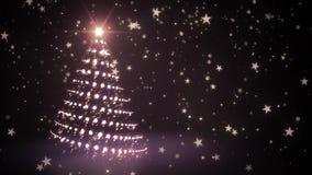Goldener funkelnder Weihnachtsbaum stock abbildung