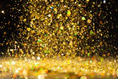 Goldener Funkelnhintergrund Lizenzfreie Stockbilder