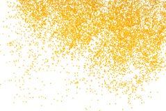 Goldener Funkelnschein auf Weiß Lizenzfreie Stockfotografie