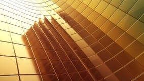 Goldener futuristischer Abstraktionshintergrund der Platte 3d Stockbilder