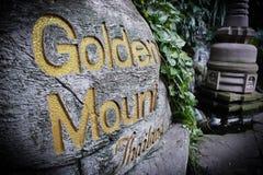 Goldener Gebirgstempel Lizenzfreies Stockfoto