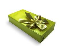 Goldener Geschenkkasten. Lizenzfreie Stockfotografie