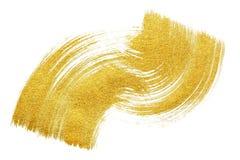 Goldener glänzender Bürstenanschlag Stockbild