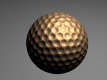 Goldener Golfball Stockfotos