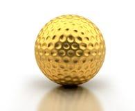 Goldener Golfball stock abbildung