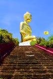 Goldener großer Buddha Stockfoto