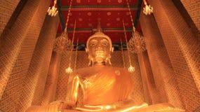 Goldener großer Buddha Smilingly Stockfotografie