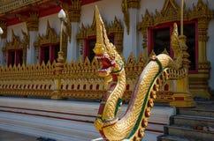 Goldener großer Naga stockbilder