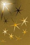 Goldener grungy Hintergrund mit sechs gezeigten Sternen Lizenzfreies Stockbild