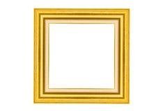 Goldener hölzerner Bilderrahmen stockfotografie