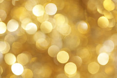 Goldener heller Hintergrund Stockfoto