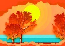 Goldener Herbst lizenzfreie abbildung