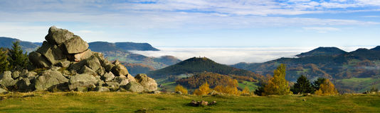 Goldener Herbst auf Französisch Elsass Lizenzfreie Stockfotos