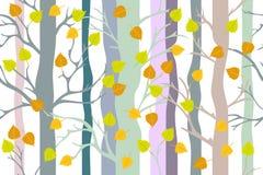 Goldener Herbstwald Lizenzfreies Stockbild