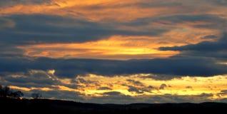 Goldener Himmel Stockbilder