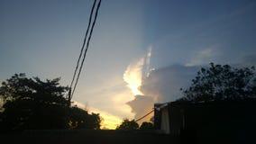 Goldener Himmel Stockfoto