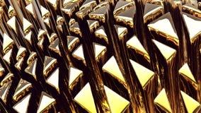 Goldener Hintergrund der Abstraktion 3d Stockbilder