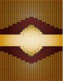 Goldener Hintergrund der Weinlese. Lizenzfreie Stockfotografie