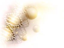 Goldener Hintergrund der Wissenschaft Stockbild