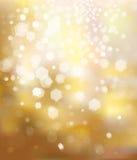 Goldener Hintergrund des Vektorfunkelns. Stockfoto