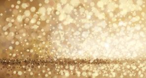 Goldener Hintergrund des Vektors Stockbild