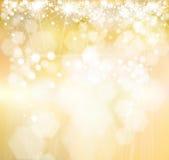 Goldener Hintergrund des Vektors Stockfoto