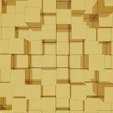 goldener Hintergrund des Würfels 3D Lizenzfreie Stockfotos
