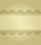 Goldener Hintergrund mit Spitze Lizenzfreies Stockfoto