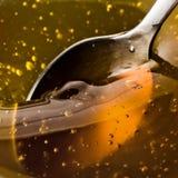 Goldener Honig Stockfoto