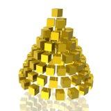 Goldener Kegel stock abbildung