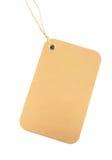 Goldener Kennsatz mit Farbband Stockfoto