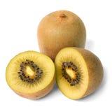 Goldener Kiwifruit lokalisiert Stockfotografie