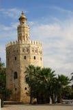 Goldener Kontrollturm Stockbild