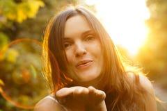 Goldener Kuss Lizenzfreies Stockfoto