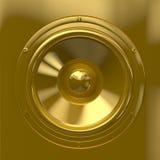 Goldener Lautsprecher Stockfotografie