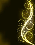 Goldener Lichteffekthintergrund des Feiertags. Lizenzfreies Stockfoto