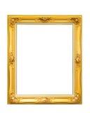Goldener Louise-Weinlesefotorahmen lokalisiert auf weißem Hintergrund Lizenzfreie Stockbilder