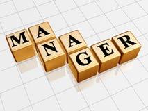 Goldener Manager Lizenzfreies Stockbild