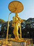Goldener meditierender Buddha Stockfotos