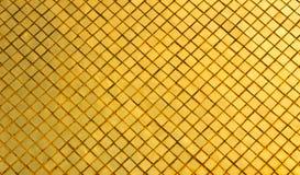 Goldener Mosaikhintergrund Stockfoto
