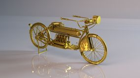 Goldener Motor Stockfotos