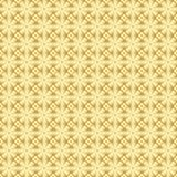 Goldener Musterhintergrund des Vektors mit Achtecken vektor abbildung