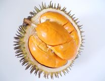 Goldener orange Durian Stockfotografie
